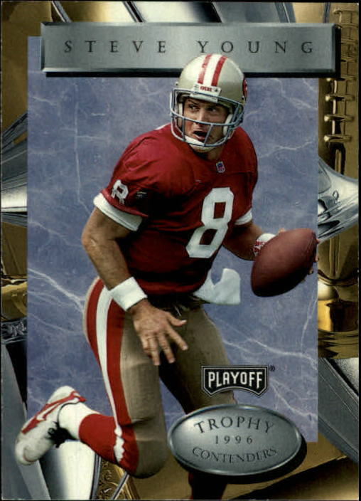 1996 Playoff Trophy Contenders #8 Steve Young
