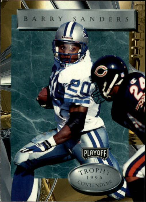 1996 Playoff Trophy Contenders #20 Barry Sanders
