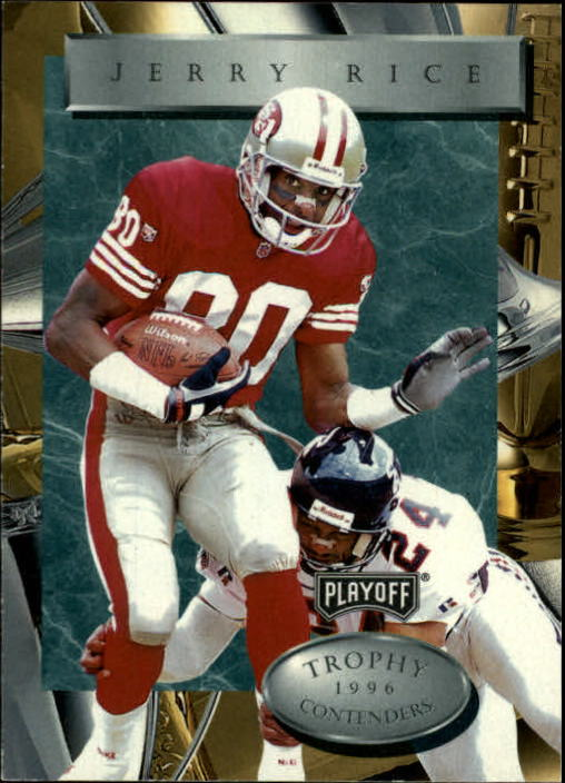 1996 Playoff Trophy Contenders #80 Jerry Rice