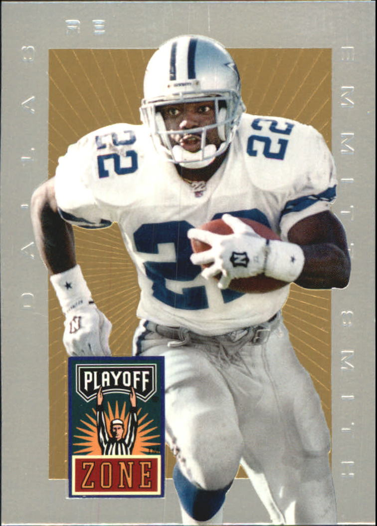 1996 Playoff Trophy Contenders Playoff Zone #21 Emmitt Smith