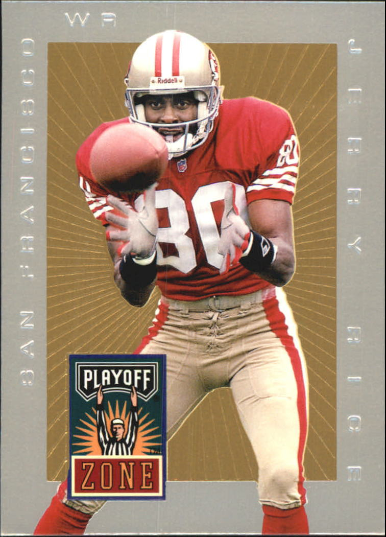 1996 Playoff Trophy Contenders Playoff Zone #34 Jerry Rice