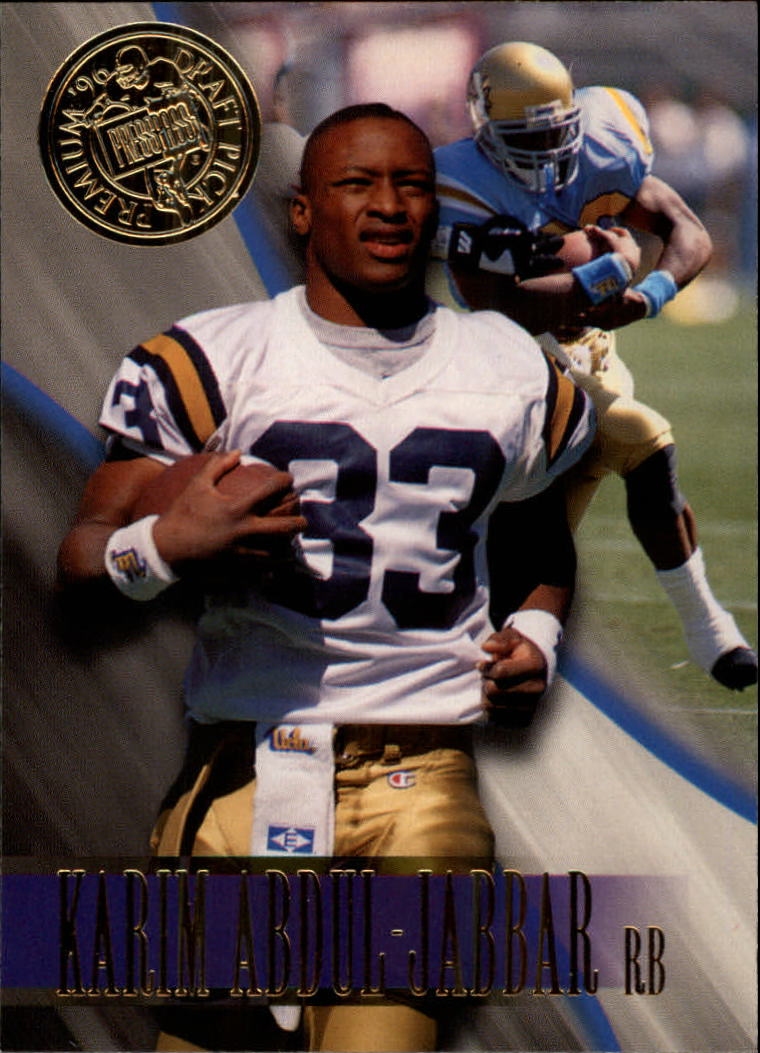1996 Press Pass #6 Karim Abdul-Jabbar