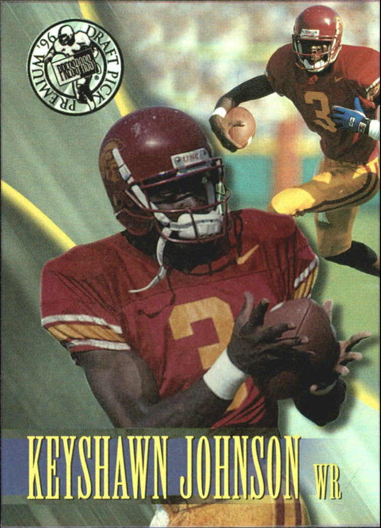 1996 Press Pass Holofoil #1 Keyshawn Johnson