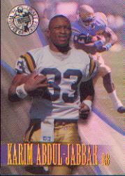 1996 Press Pass Holofoil #6 Karim Abdul-Jabbar