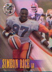 1996 Press Pass Holofoil #9 Simeon Rice