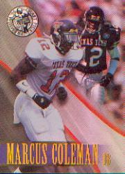 1996 Press Pass Holofoil #12 Marcus Coleman