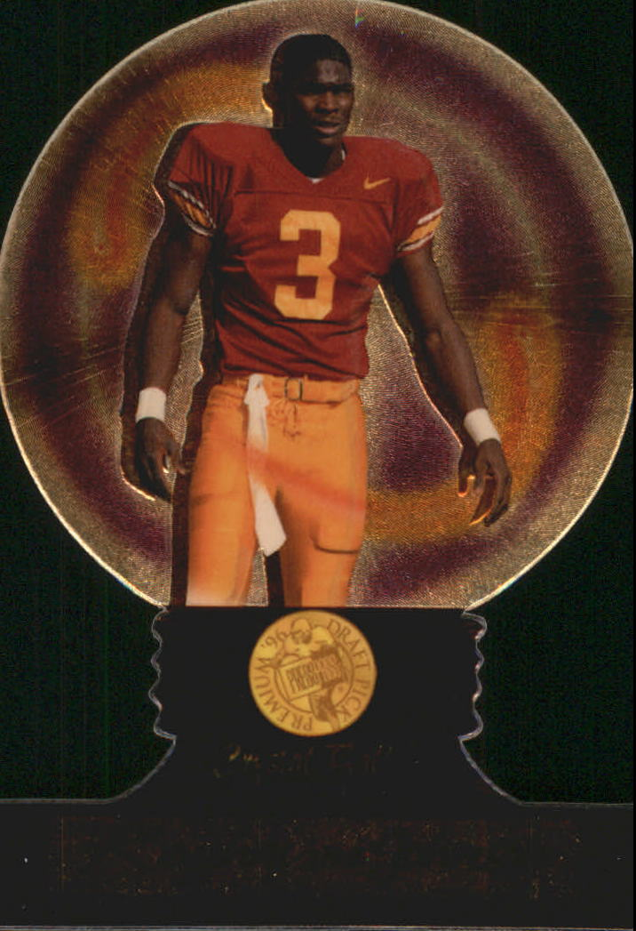 1996 Press Pass Crystal Ball #CB12 Keyshawn Johnson