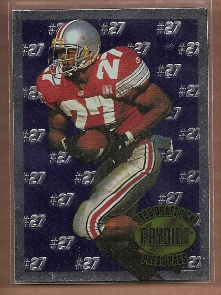 1996 Press Pass Paydirt Eddie George #EG2 Eddie George