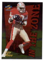 1996 Score In The Zone #17 Jerry Rice