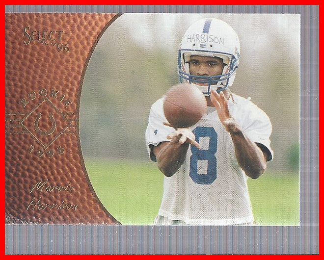 1996 Select #160 Marvin Harrison RC