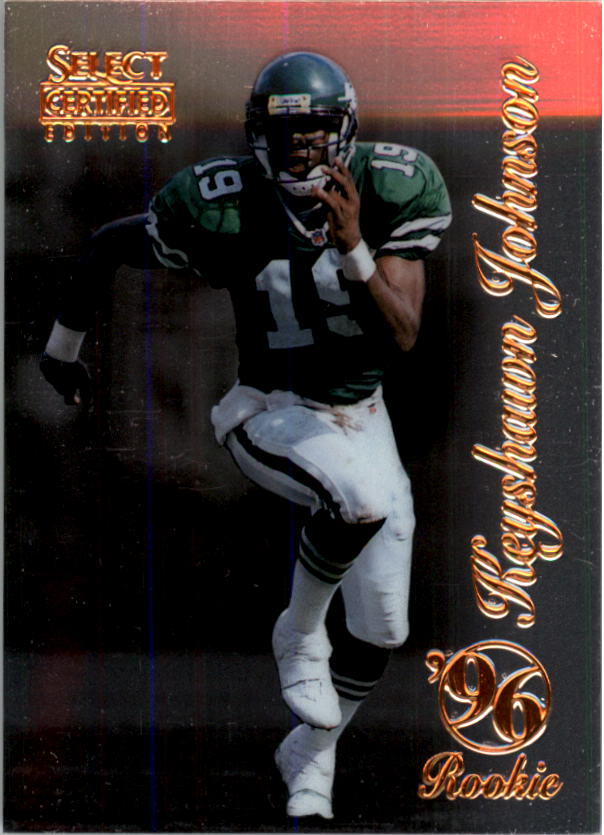 1996 Select Certified #105 Keyshawn Johnson RC