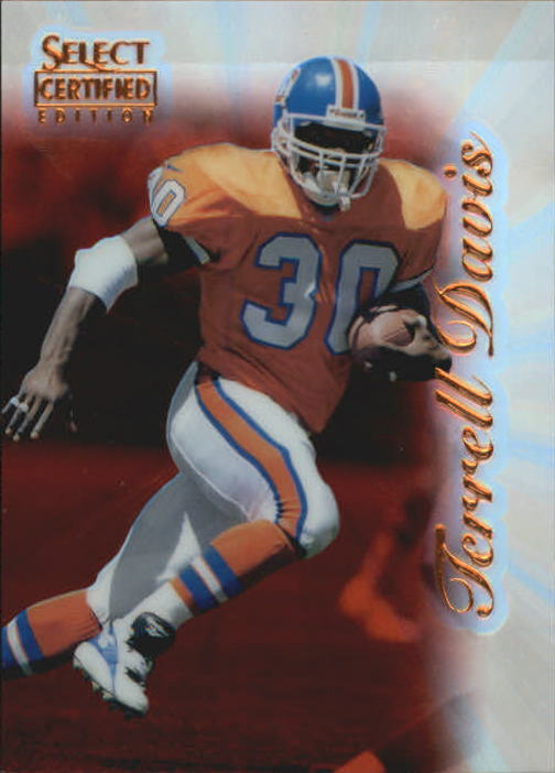 1996 Select Certified Mirror Red Premium Stock #41 Terrell Davis
