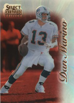 1996 Select Certified Mirror Red Premium Stock #55 Dan Marino
