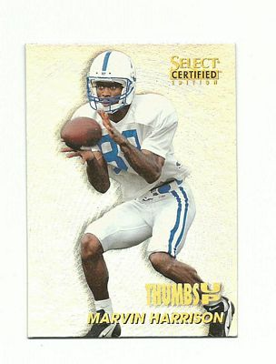 1996 Select Certified Thumbs Up #13 Marvin Harrison