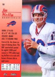1996 SkyBox Premium #18 Jim Kelly back image