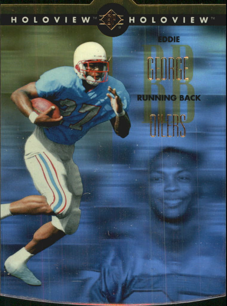 1996 SP Holoviews Die Cuts #35 Eddie George