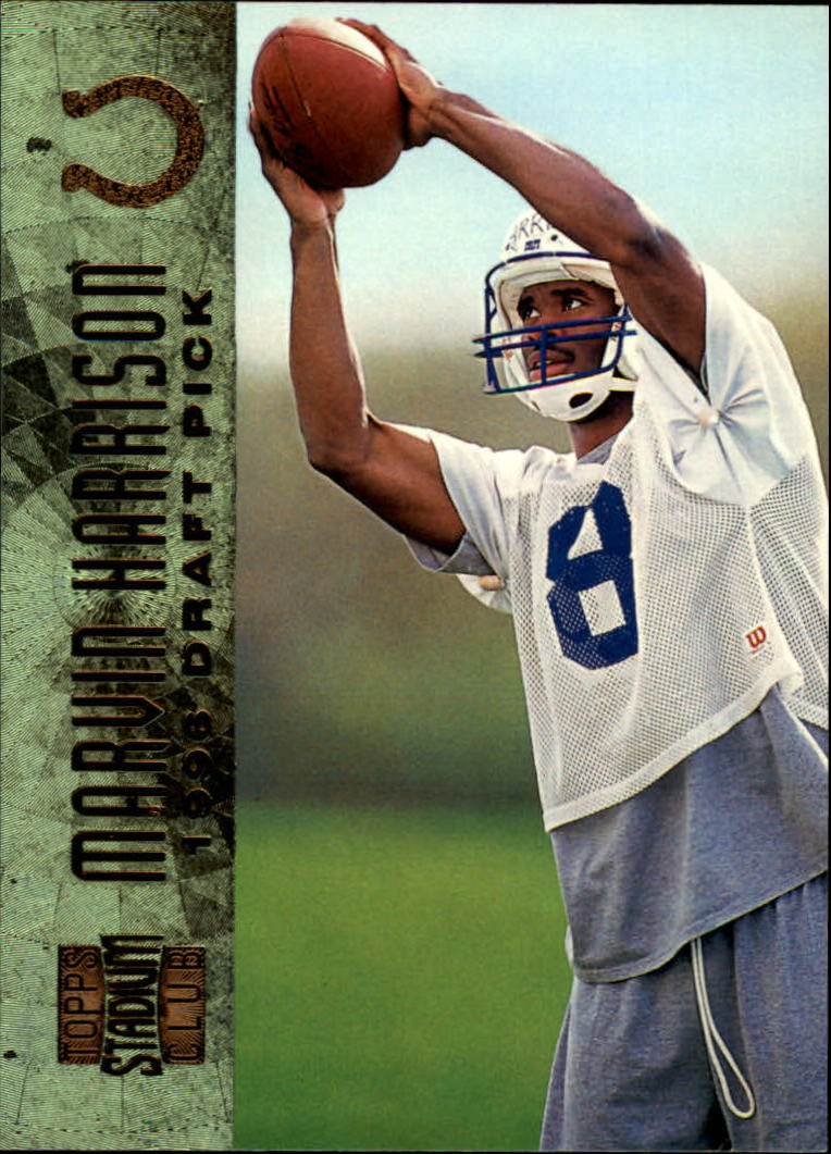 1996 Stadium Club #145 Marvin Harrison SP RC