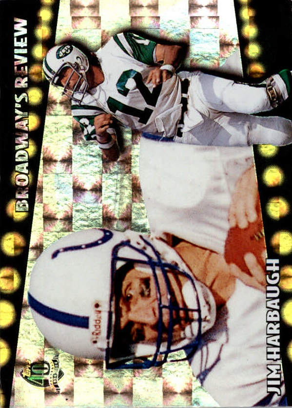 1996 Topps Broadway's Reviews #BR8 Jim Harbaugh