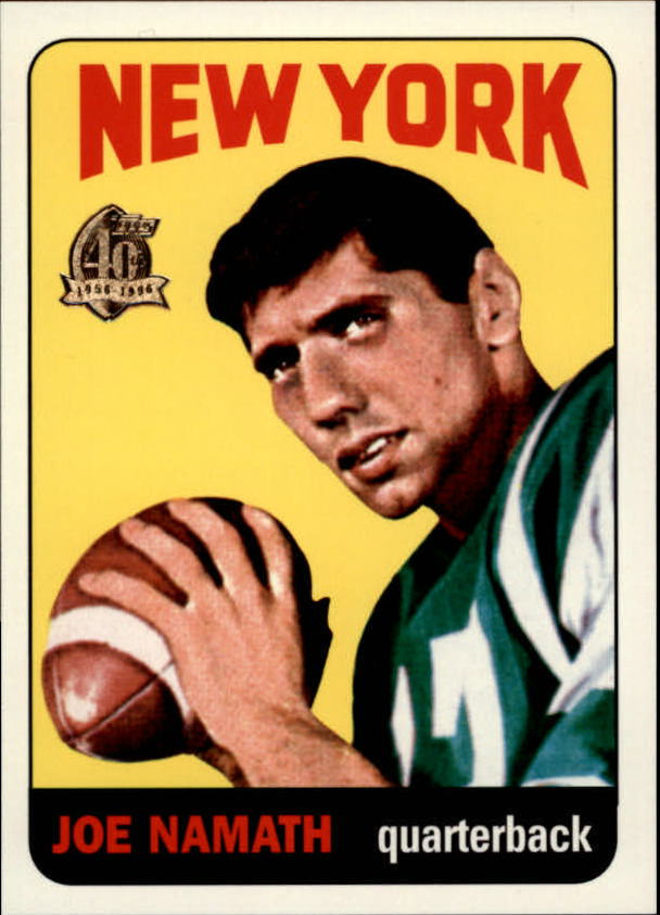 1996 Topps Namath Reprints #1 Joe Namath 1965