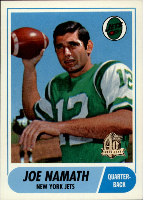 1996 Topps Namath Reprints #4 Joe Namath 1968