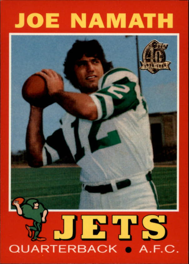 1996 Topps Namath Reprints #7 Joe Namath 1971