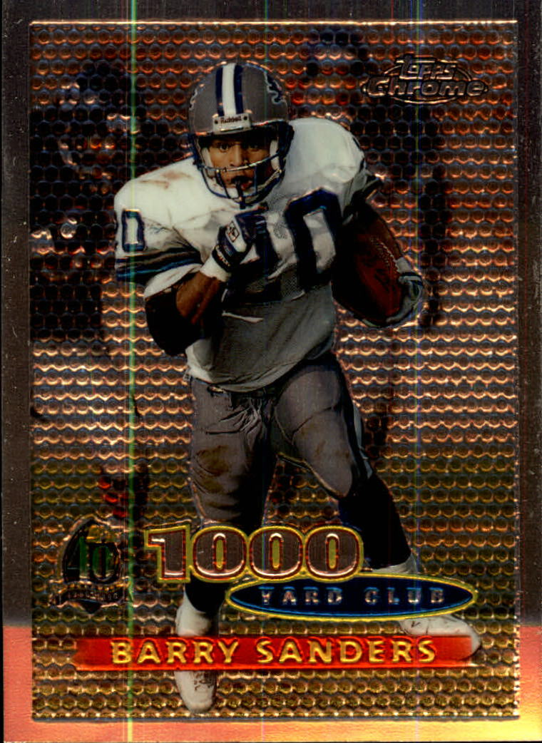 1996 Topps Chrome #51 Barry Sanders TYC