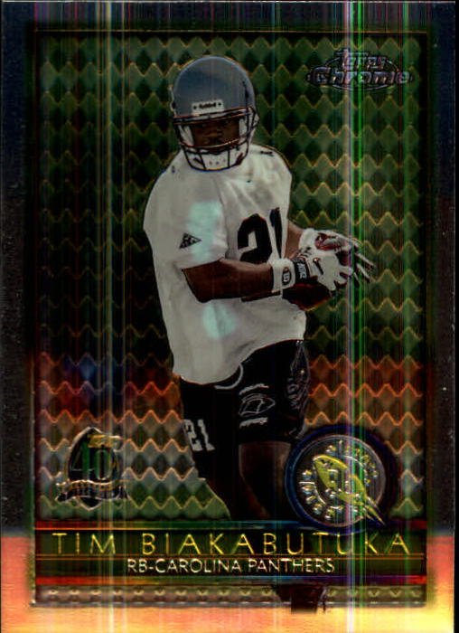 1996 Topps Chrome #157 Tim Biakabutuka RC
