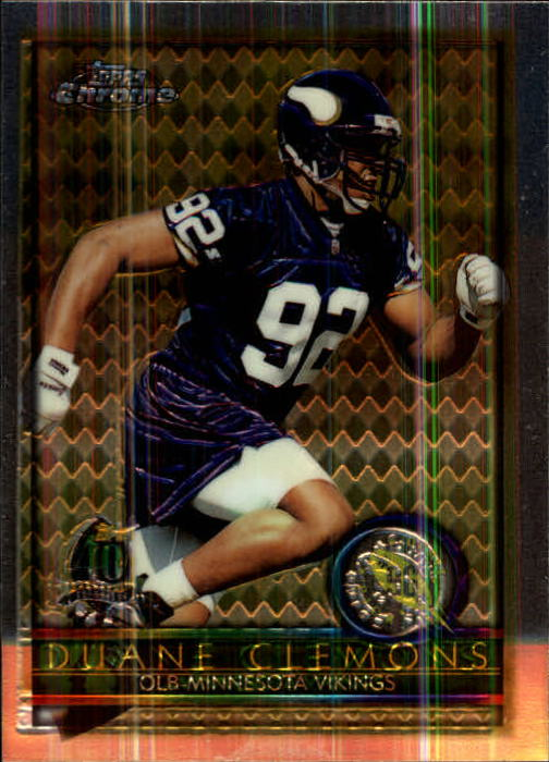 1996 Topps Chrome #158 Duane Clemons RC
