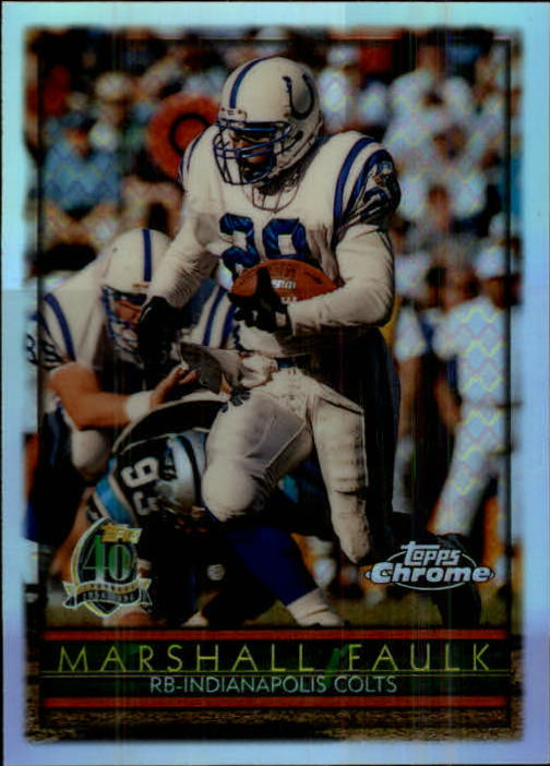 1996 Topps Chrome Refractors #42 Marshall Faulk