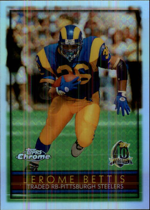 1996 Topps Chrome Refractors #125 Jerome Bettis