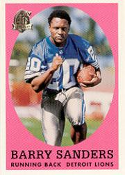 1996 Topps Chrome 40th Anniversary Retros #3 Barry Sanders 1958