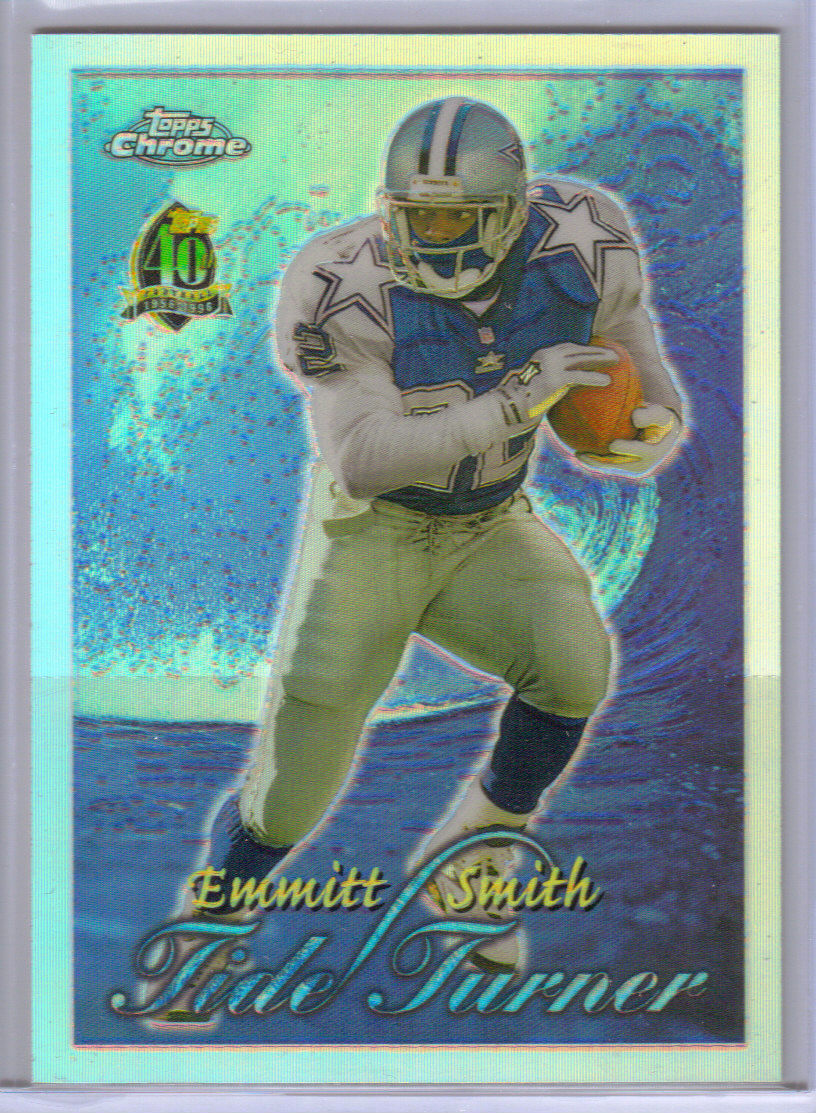 1996 Topps Chrome Tide Turners Refractors #TT11 Emmitt Smith