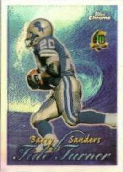1996 Topps Chrome Tide Turners Refractors #TT14 Barry Sanders