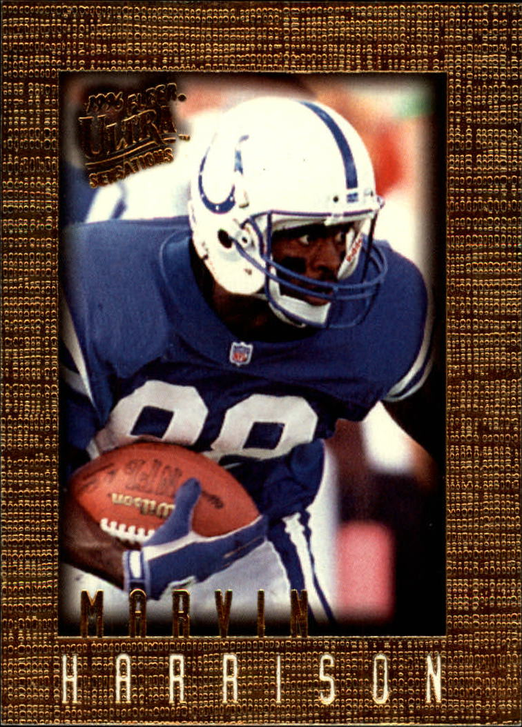 1996 Ultra Sensations #47 Marvin Harrison RC