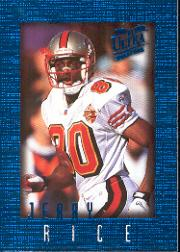 1996 Ultra Sensations Blue #91 Jerry Rice