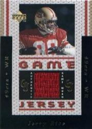 1996 Upper Deck Game Jerseys #GJ4W Jerry Rice White