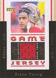 1996 Upper Deck Game Jerseys #GJ8 Steve Young
