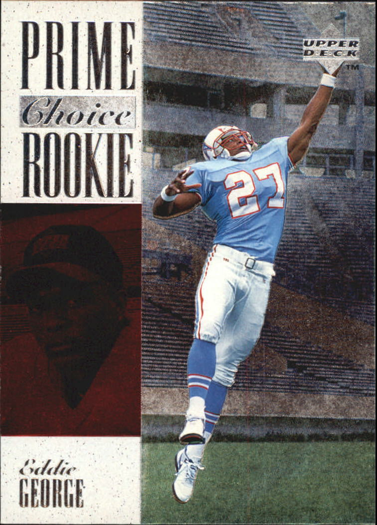 1996 Upper Deck Silver Prime Choice Rookies #9 Eddie George