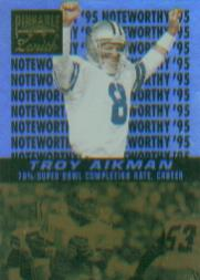1996 Zenith Noteworthy '95 #17 Troy Aikman