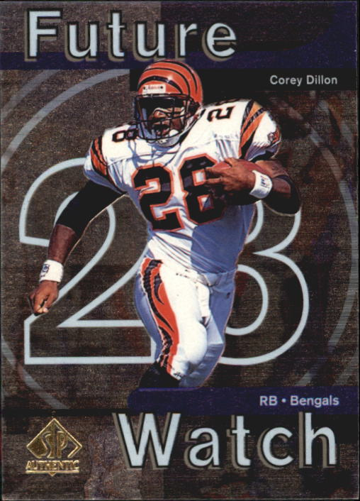 1997 SP Authentic #25 Corey Dillon RC