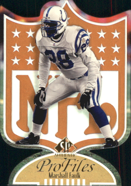 1997 SP Authentic ProFiles Die Cuts #P30 Marshall Faulk