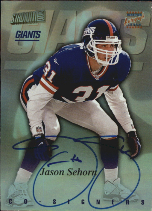 1997 Stadium Club Co-Signers #CO100 Jason Sehorn/Aaron Glenn