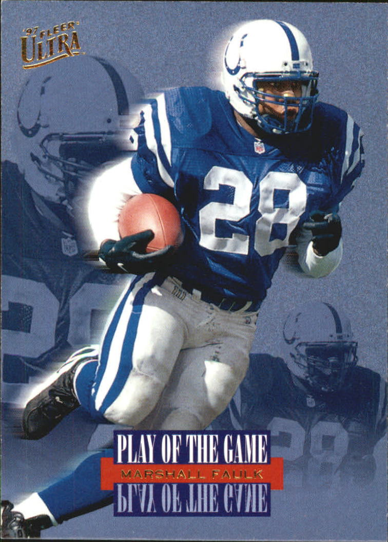 1997 Ultra Play of the Game #5 Marshall Faulk