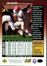1997 Upper Deck Legends #2 Jim Brown back image