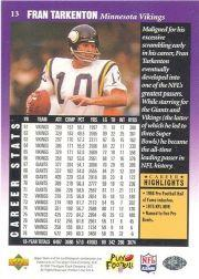 1997 Upper Deck Legends #13 Fran Tarkenton back image