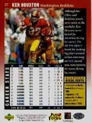 1997 Upper Deck Legends #27 Ken Houston back image