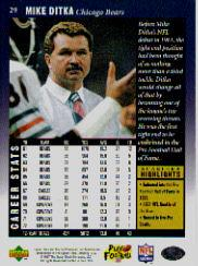1997 Upper Deck Legends #29 Mike Ditka back image