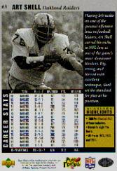 1997 Upper Deck Legends #63 Art Shell back image