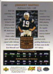 1997 Upper Deck Legends #183 Johnny Unitas SM back image