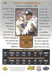 1997 Upper Deck Legends #189 Fran Tarkenton SM back image